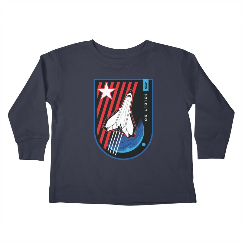 Boldly Go Kids Toddler Longsleeve T-Shirt by Graphicblack