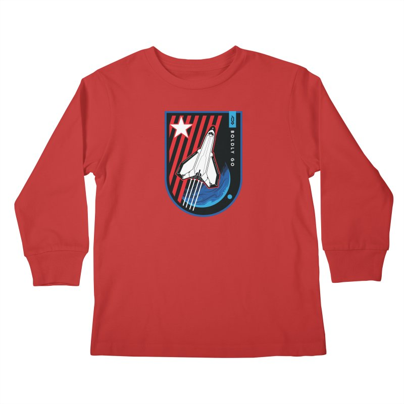 Boldly Go Kids Longsleeve T-Shirt by Graphicblack