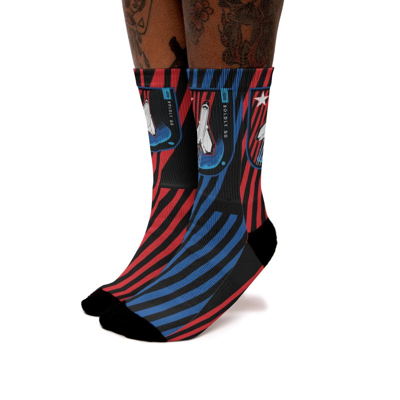 Boldly Go Women's Socks by Graphicblack