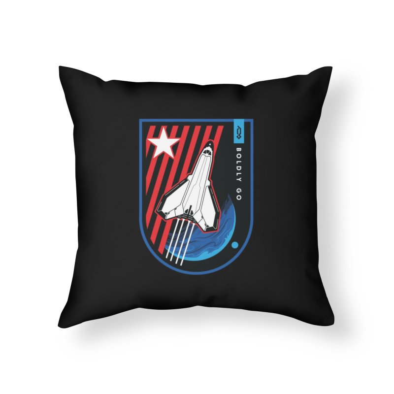 Boldly Go Home Throw Pillow by Graphicblack