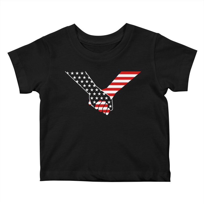 Liberty & Justice Kids Baby T-Shirt by Graphicblack