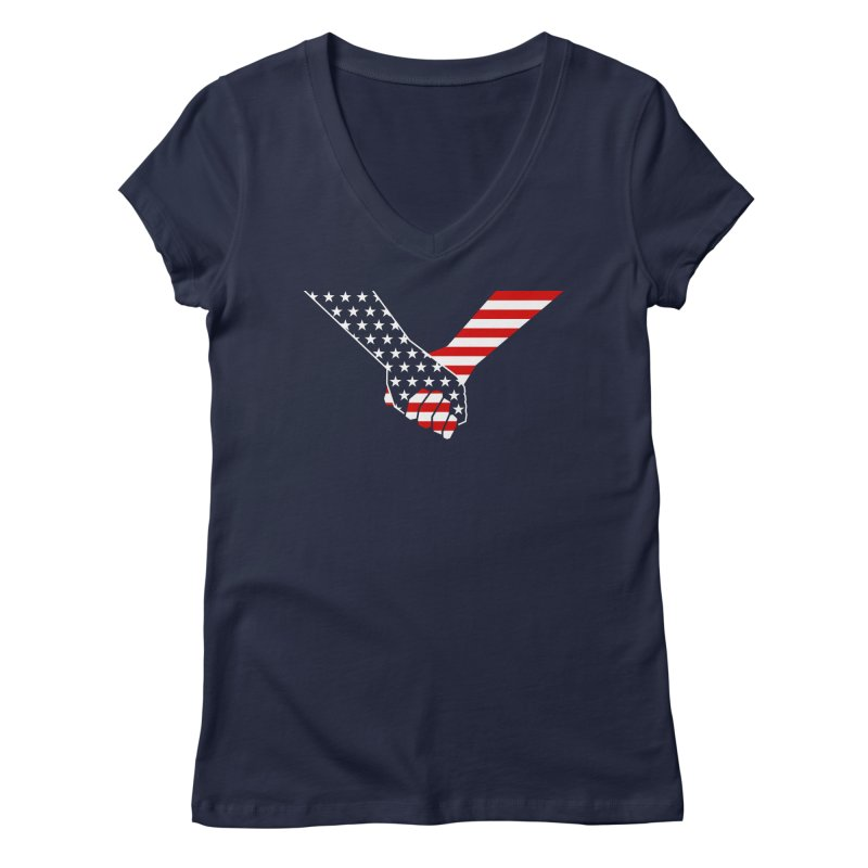 Liberty & Justice Women's V-Neck by Graphicblack