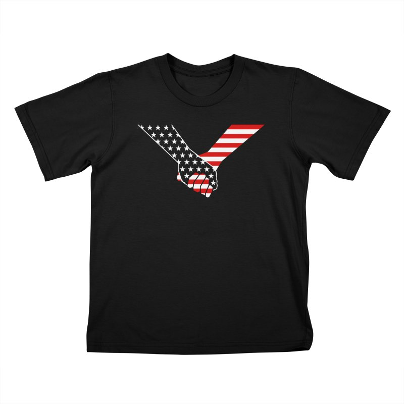 Liberty & Justice Kids T-Shirt by Graphicblack