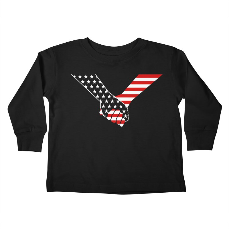 Liberty & Justice Kids Toddler Longsleeve T-Shirt by Graphicblack
