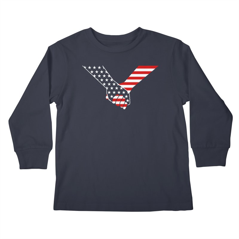 Liberty & Justice Kids Longsleeve T-Shirt by Graphicblack