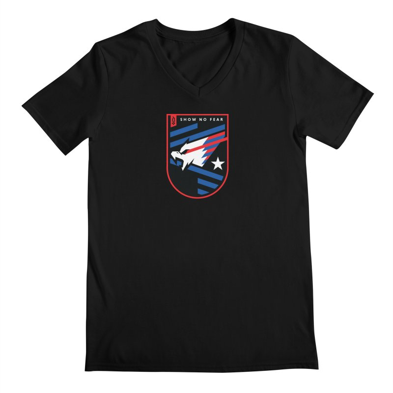 Show No Fear Men's V-Neck by Graphicblack