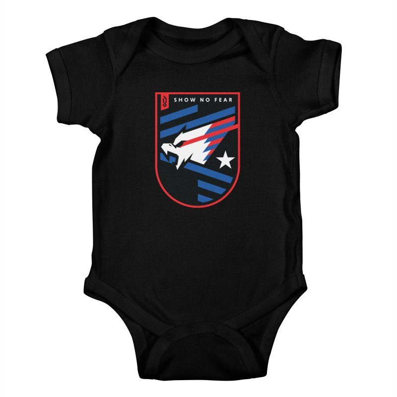 Show No Fear Kids Baby Bodysuit by Graphicblack