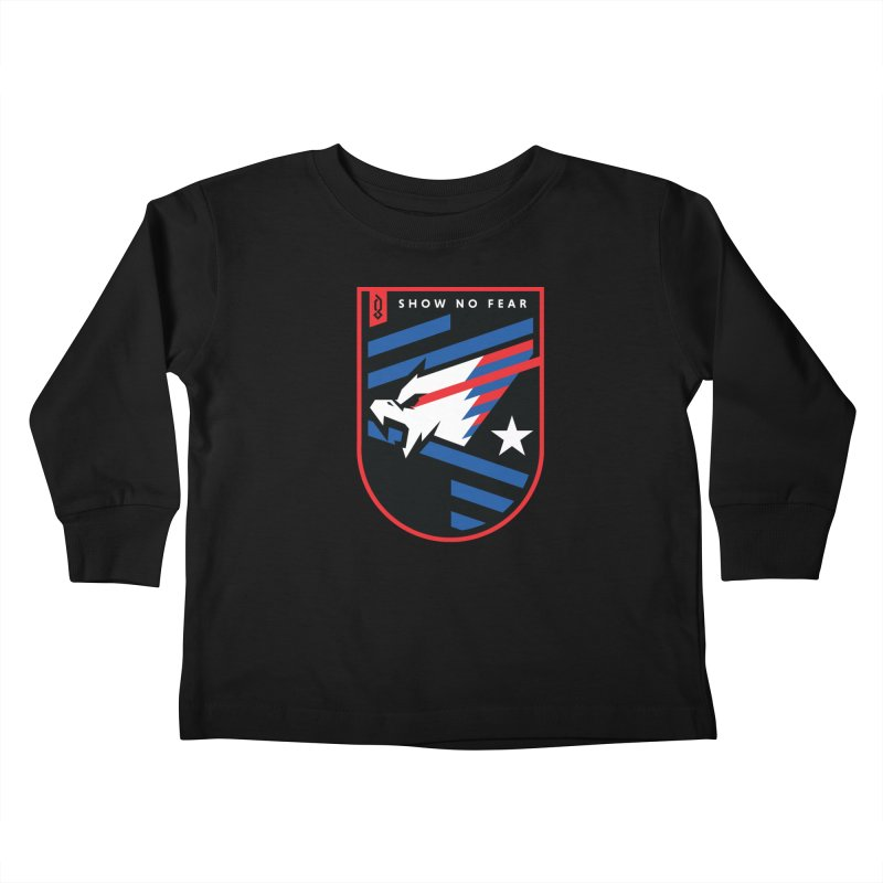 Show No Fear Kids Toddler Longsleeve T-Shirt by Graphicblack