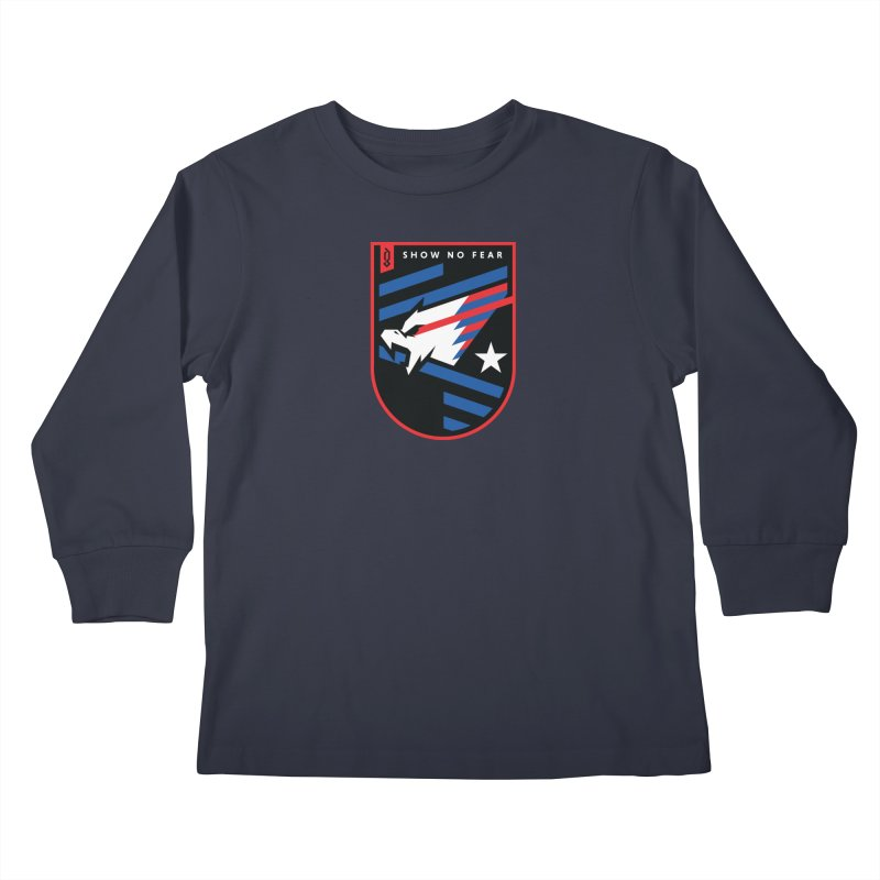 Show No Fear Kids Longsleeve T-Shirt by Graphicblack