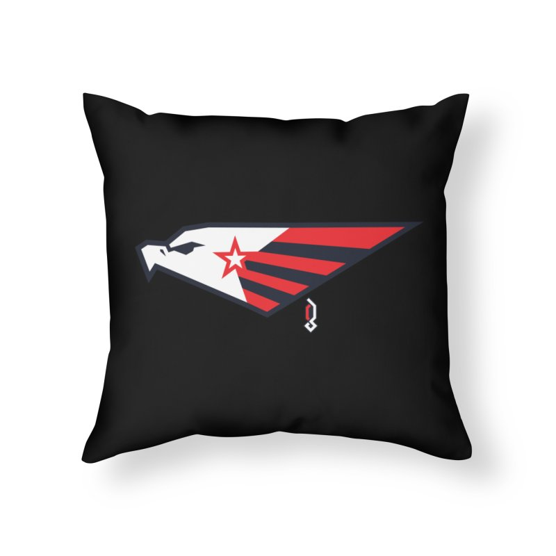 Eagle Home Throw Pillow by Graphicblack