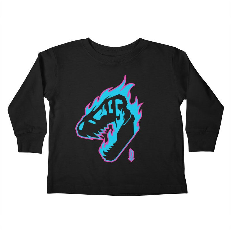 Psychosaurus Kids Toddler Longsleeve T-Shirt by Graphicblack