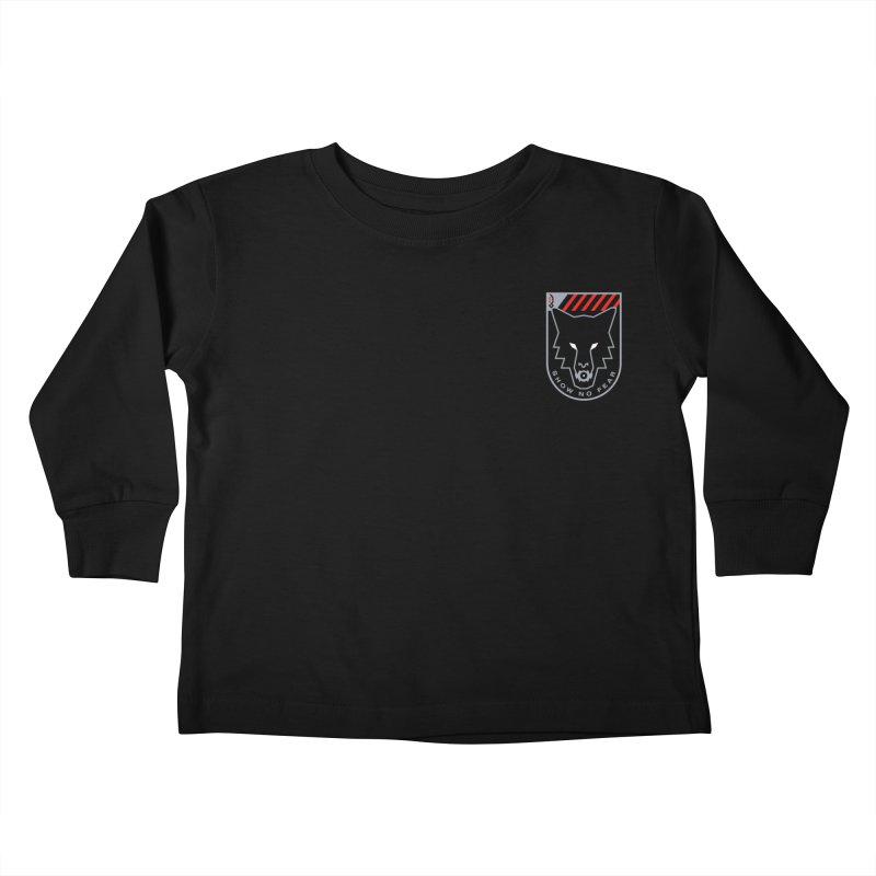 Show No Fear - Wolf Kids Toddler Longsleeve T-Shirt by Graphicblack