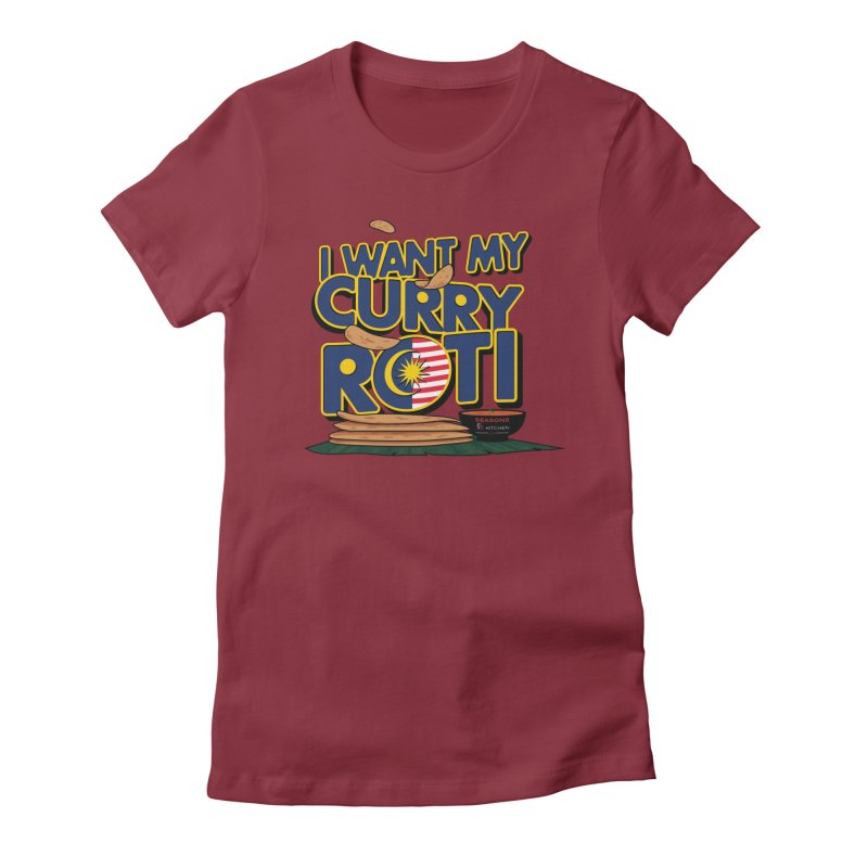 Curry Roti Women's T-Shirt by Graphicblack