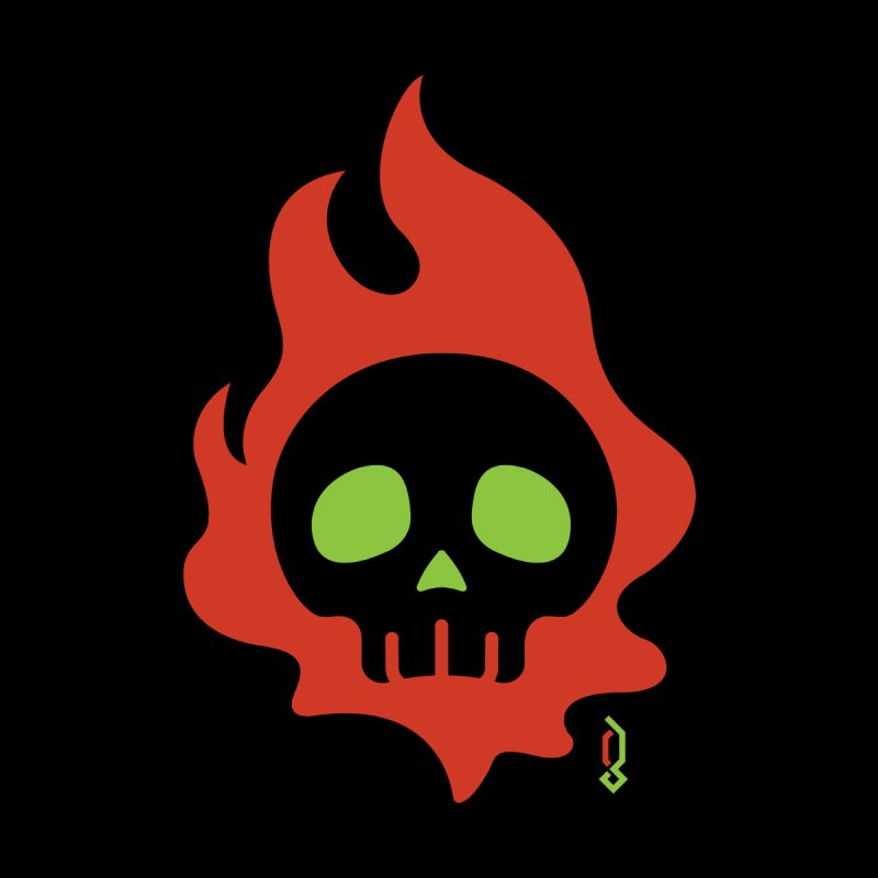 Skullfire II Women's T-Shirt by Graphicblack