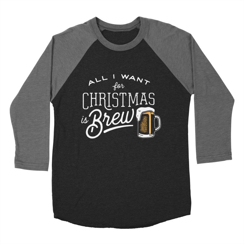 Christmas Brew Women's Baseball Triblend T-Shirt by The Artist Shop of graphicdesign79
