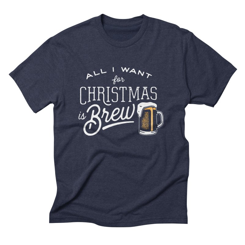 Christmas Brew Men's Triblend T-shirt by The Artist Shop of graphicdesign79