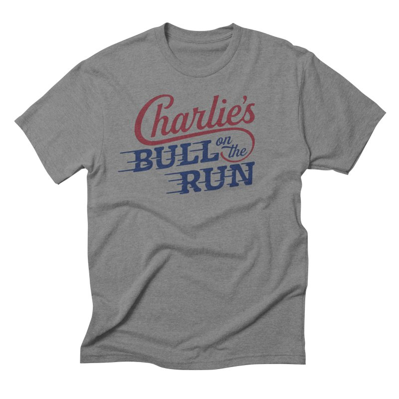 Charlie's Bull on the Run Men's Triblend T-Shirt by The Artist Shop of graphicdesign79