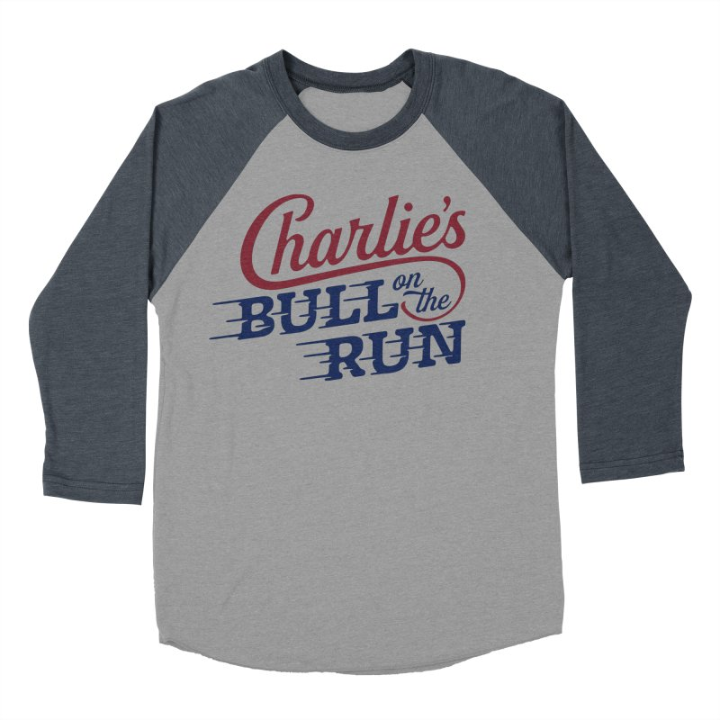 Charlie's Bull on the Run Women's Baseball Triblend T-Shirt by The Artist Shop of graphicdesign79