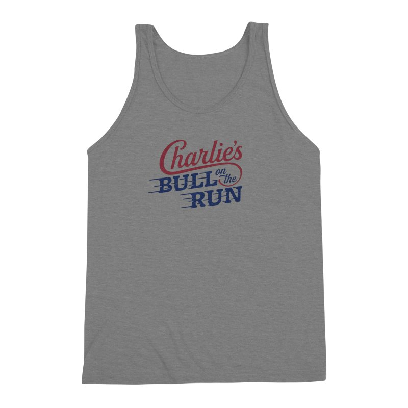 Charlie's Bull on the Run Men's Triblend Tank by The Artist Shop of graphicdesign79