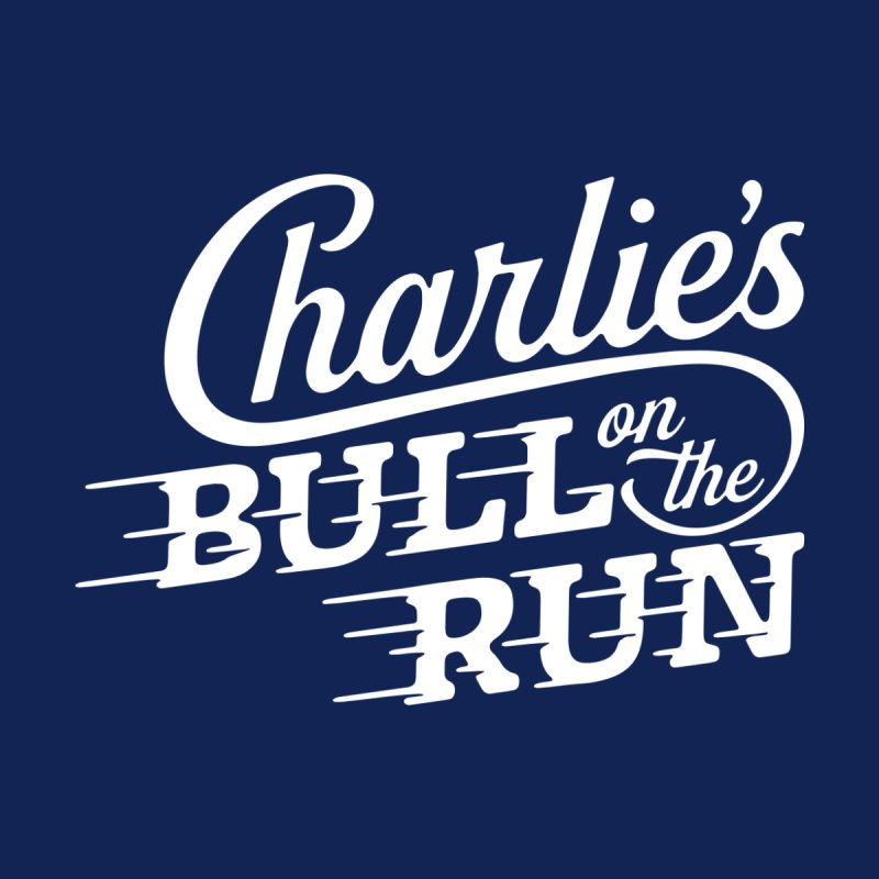 Charlie's Bull on the Run - White by The Artist Shop of graphicdesign79