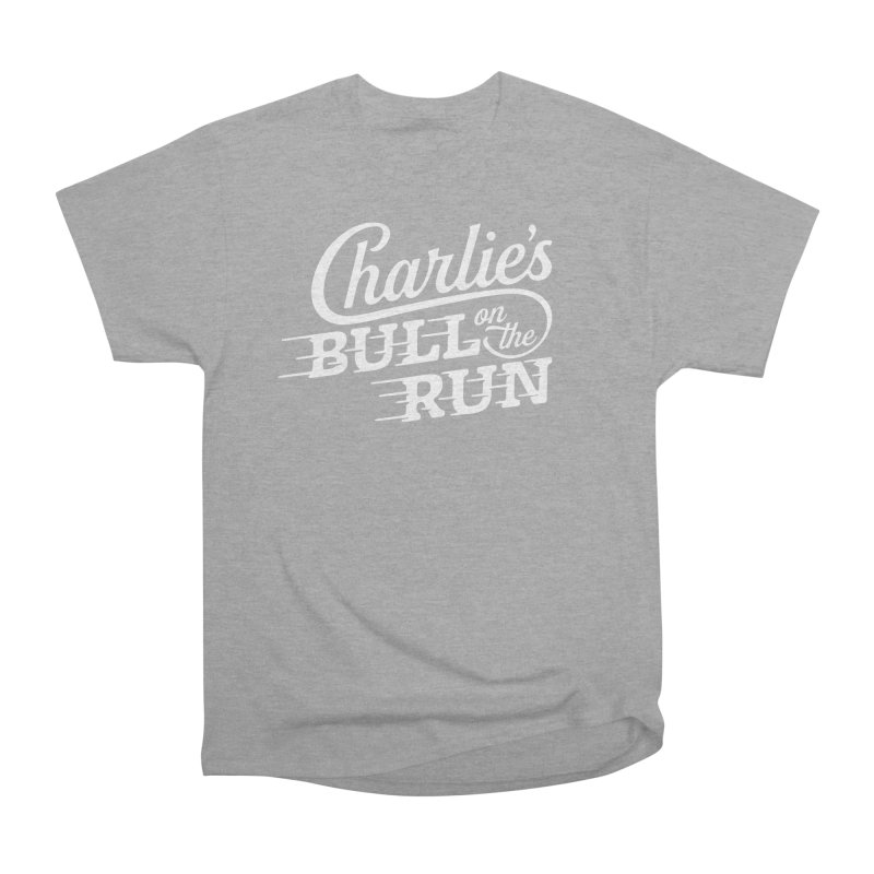 Charlie's Bull on the Run - White Women's Classic Unisex T-Shirt by The Artist Shop of graphicdesign79