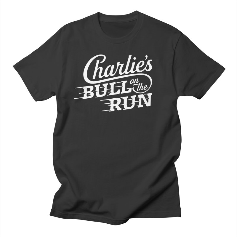 Charlie's Bull on the Run - White Men's T-shirt by The Artist Shop of graphicdesign79