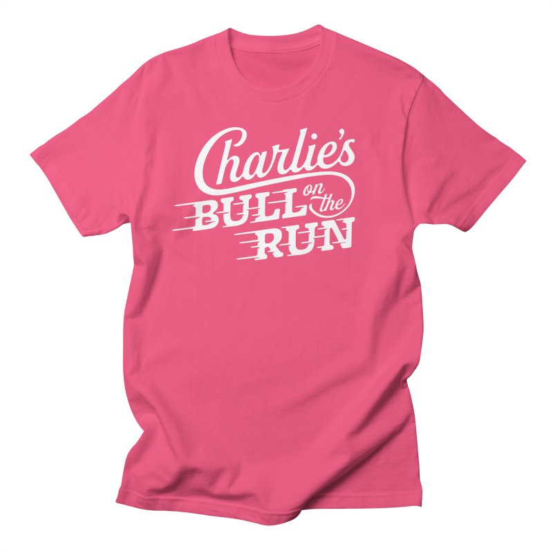 Charlie's Bull on the Run - White Women's Unisex T-Shirt by The Artist Shop of graphicdesign79
