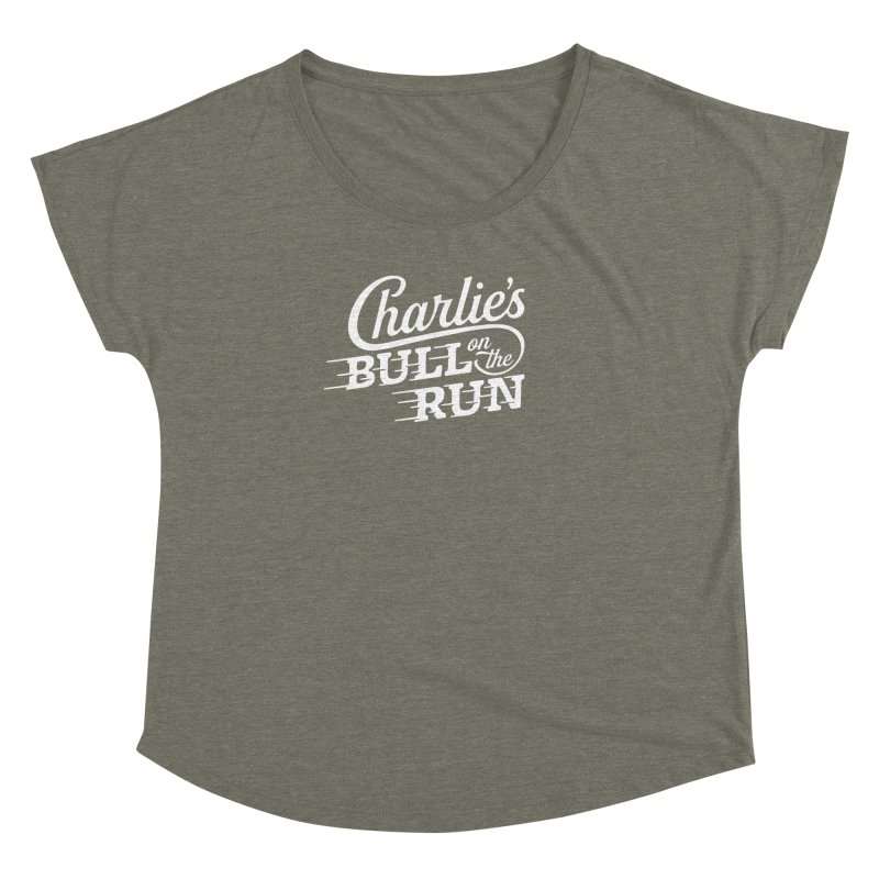 Charlie's Bull on the Run - White Women's Dolman by The Artist Shop of graphicdesign79