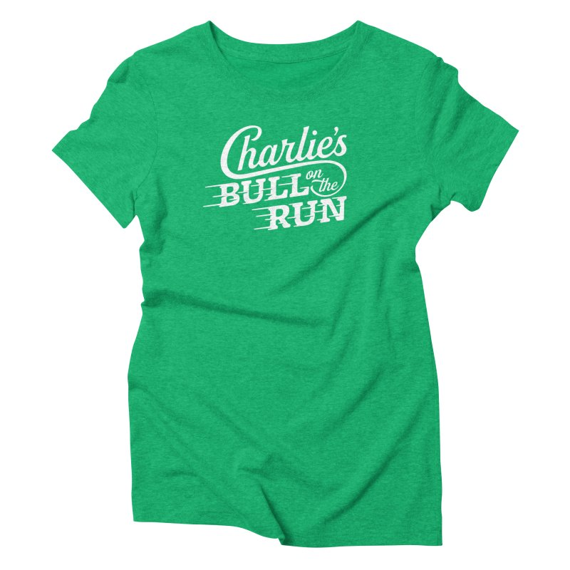 Charlie's Bull on the Run - White Women's Triblend T-Shirt by The Artist Shop of graphicdesign79