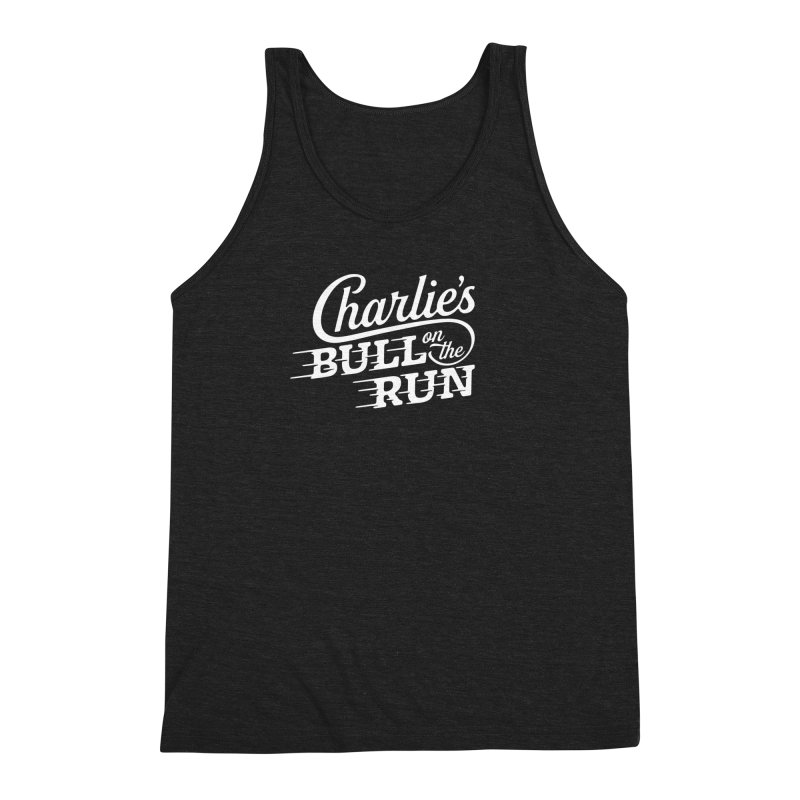 Charlie's Bull on the Run - White Men's Triblend Tank by The Artist Shop of graphicdesign79
