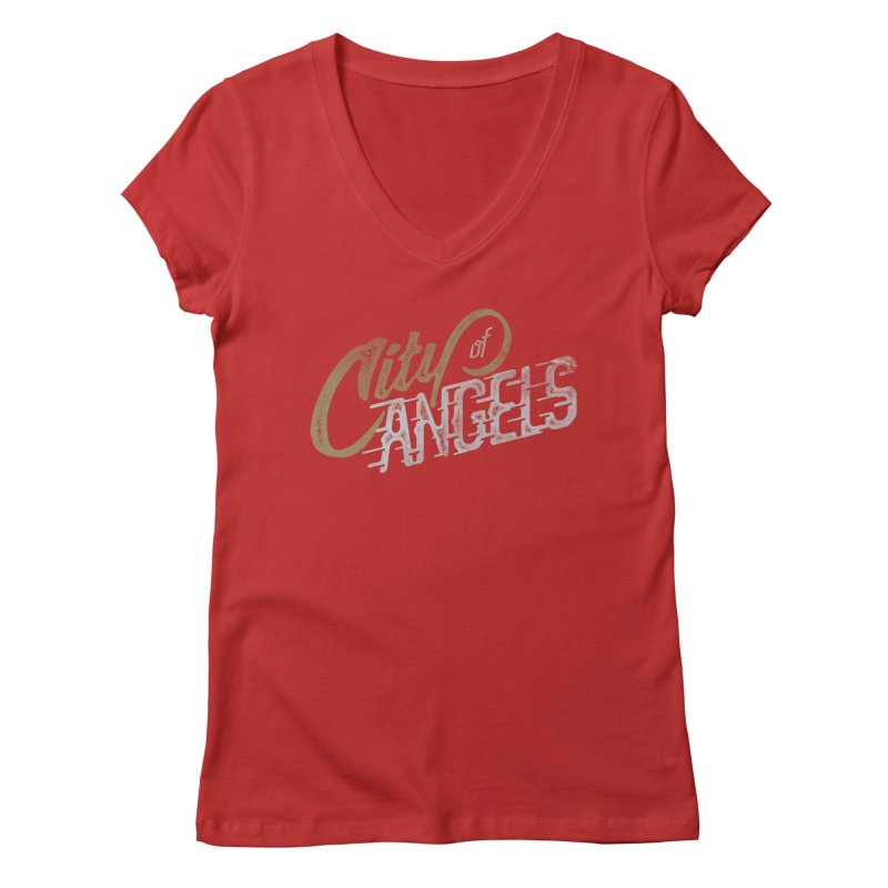 City of Angels Women's V-Neck by The Artist Shop of graphicdesign79