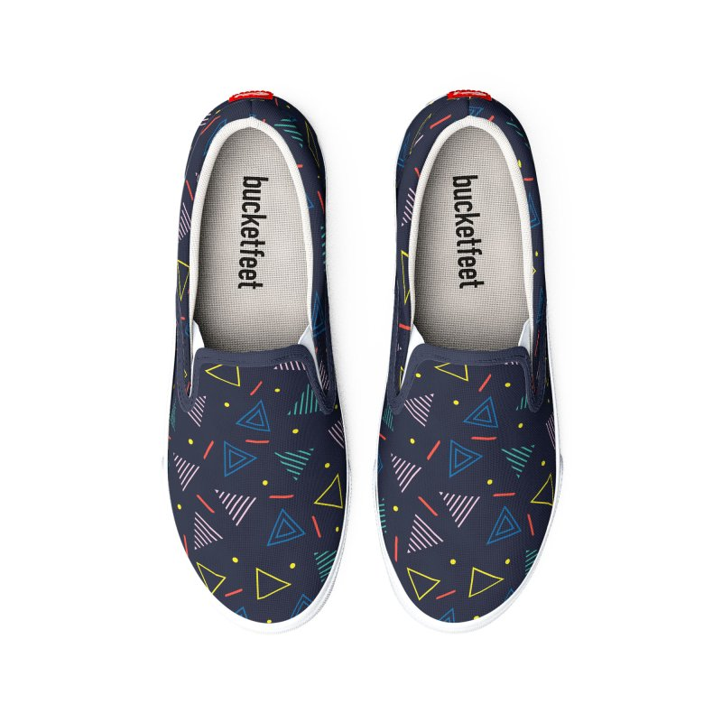 Triangles Pattern Women's Shoes by Graphsodia