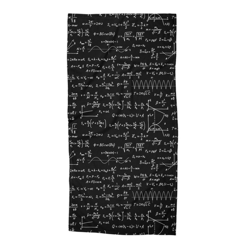 Math Equations Accessories Beach Towel by Graphsodia