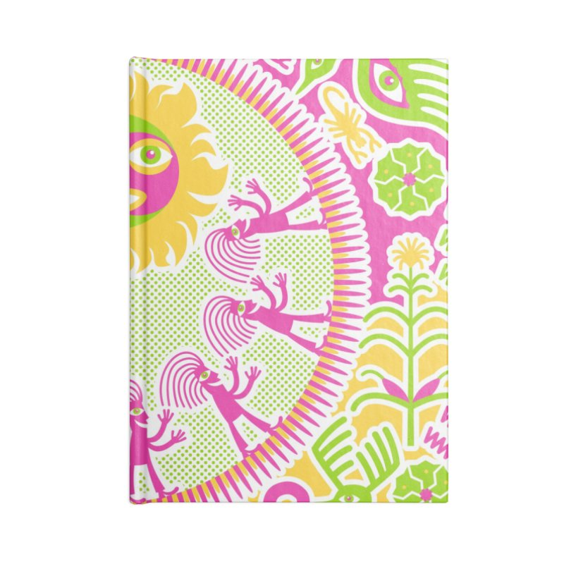 Pilgrimage to the Sun Accessories Lined Journal Notebook by Grasshopper Hill's Artist Shop