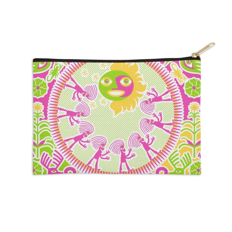Pilgrimage to the Sun Accessories Zip Pouch by Grasshopper Hill's Artist Shop
