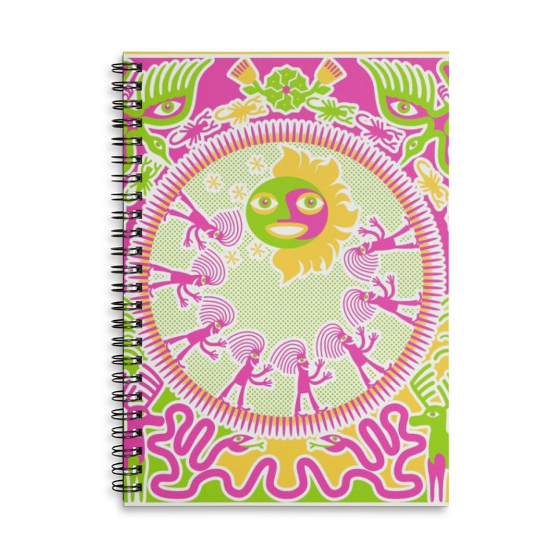 Pilgrimage to the Sun Accessories Lined Spiral Notebook by Grasshopper Hill's Artist Shop