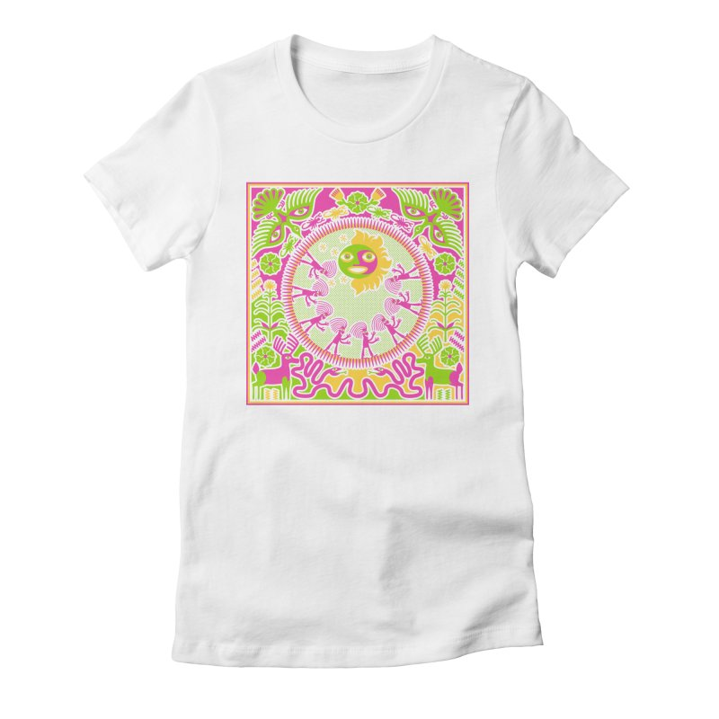 Pilgrimage to the Sun Women's Fitted T-Shirt by Grasshopper Hill's Artist Shop