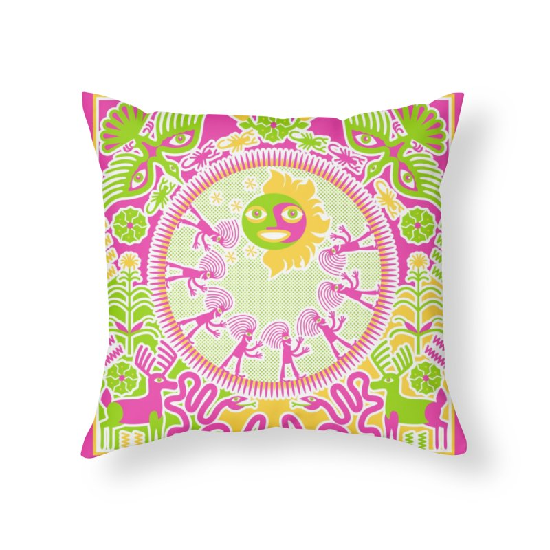 Pilgrimage to the Sun Home Throw Pillow by Grasshopper Hill's Artist Shop