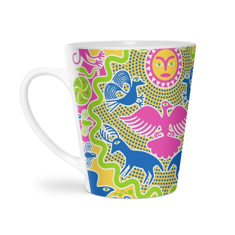 Animals & Sun God Accessories Latte Mug by Grasshopper Hill's Artist Shop