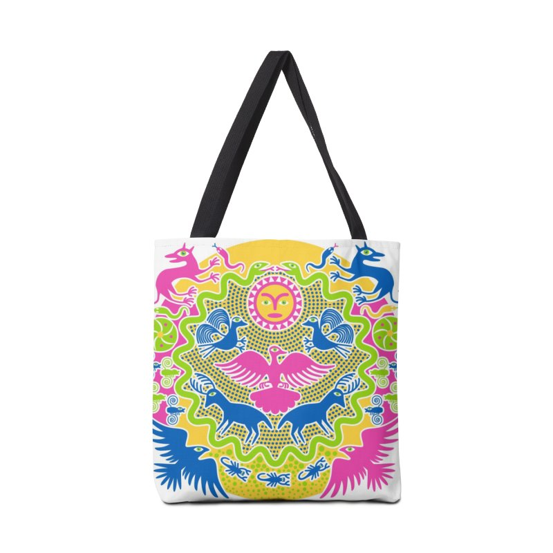 Animals & Sun God Accessories Bag by Grasshopper Hill's Artist Shop