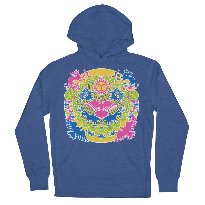 Animals & Sun God Women's French Terry Pullover Hoody by Grasshopper Hill's Artist Shop