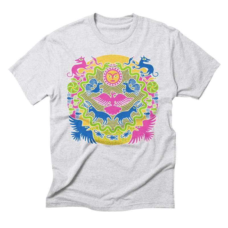Animals & Sun God Men's Triblend T-Shirt by Grasshopper Hill's Artist Shop