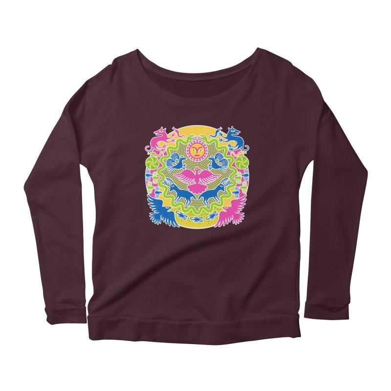 Animals & Sun God Women's Scoop Neck Longsleeve T-Shirt by Grasshopper Hill's Artist Shop
