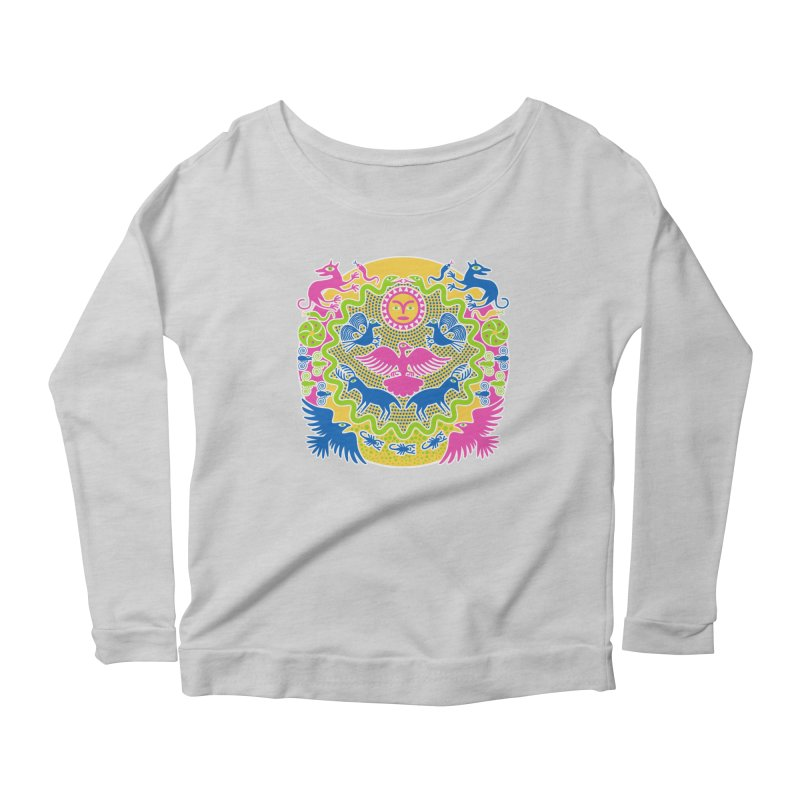 Animals & Sun God Women's Scoop Neck Longsleeve T-Shirt by Grasshopper Hill's Artist Shop