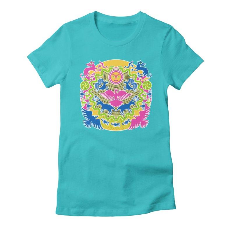 Animals & Sun God Women's T-Shirt by Grasshopper Hill's Artist Shop