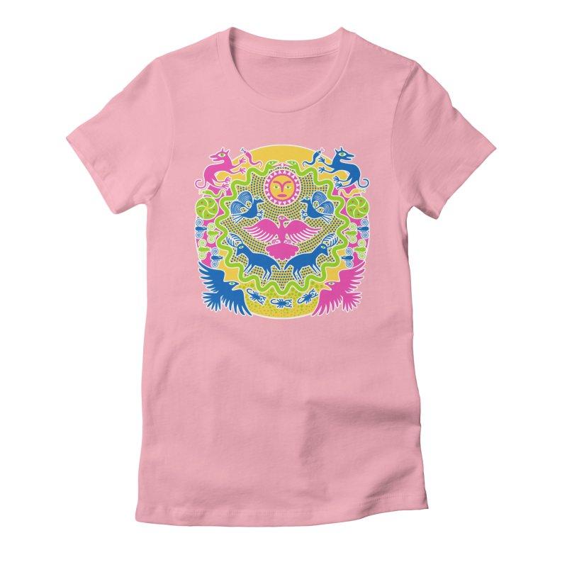 Animals & Sun God Women's Fitted T-Shirt by Grasshopper Hill's Artist Shop