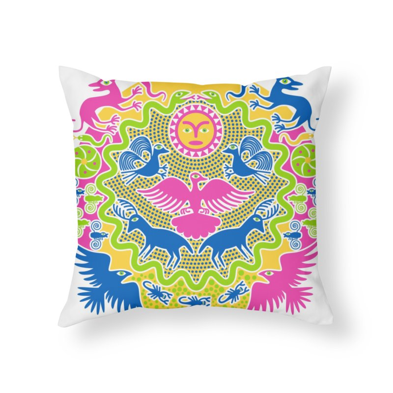 Animals & Sun God Home Throw Pillow by Grasshopper Hill's Artist Shop