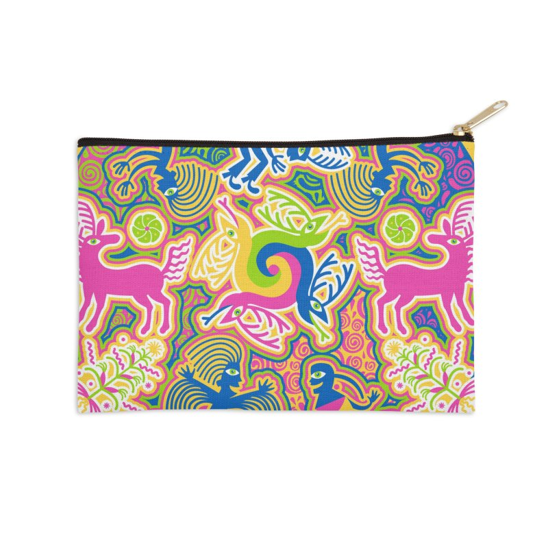 Creation of Peyote & Corn Accessories Zip Pouch by Grasshopper Hill's Artist Shop