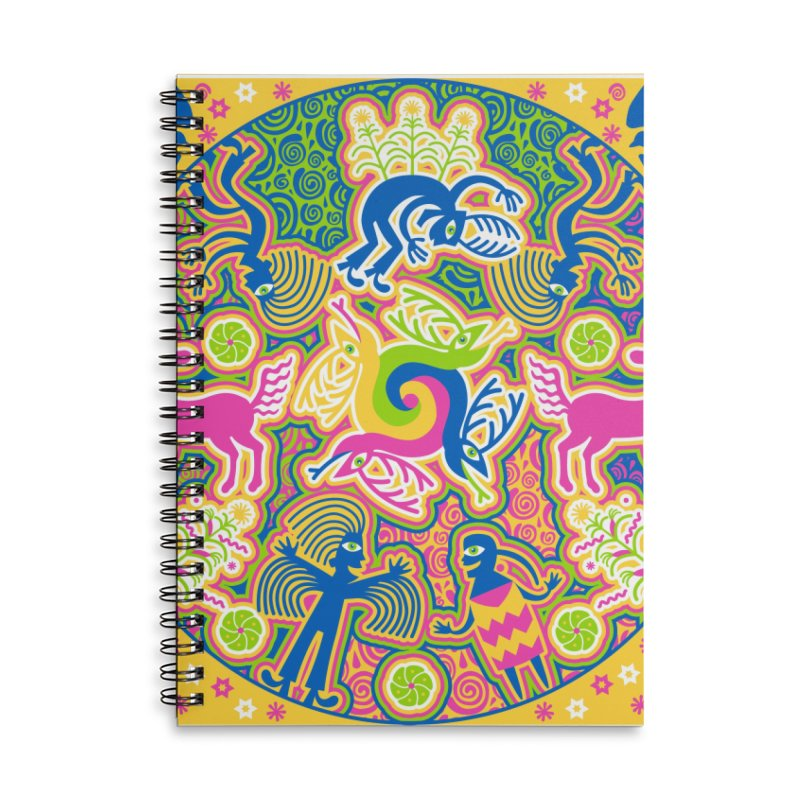 Creation of Peyote & Corn Accessories Lined Spiral Notebook by Grasshopper Hill's Artist Shop