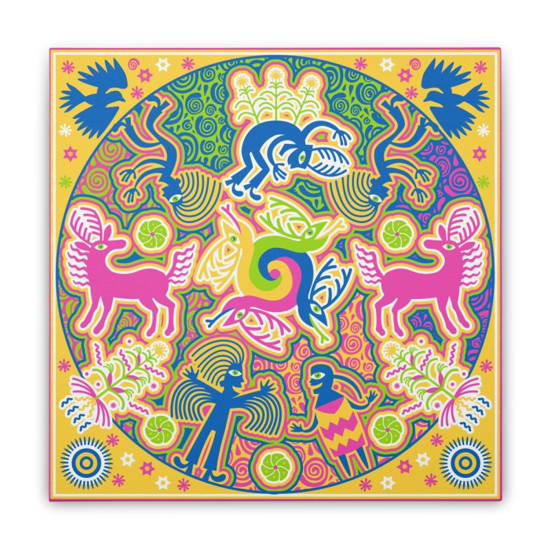 Creation of Peyote & Corn Home Stretched Canvas by Grasshopper Hill's Artist Shop
